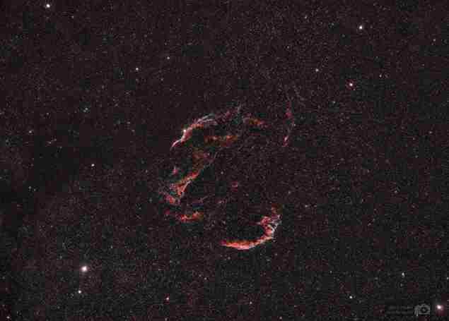 Las nebulosas del Velo en Cisne