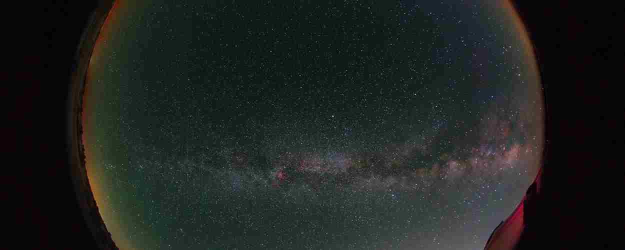 Vía Láctea desde el Observatorio Alcor