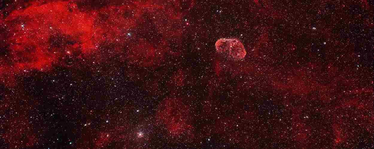 Nebulosa Crescent En El Cisne