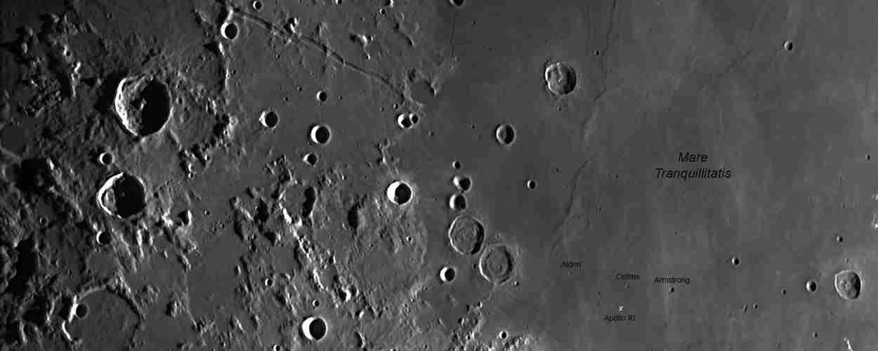 Cráteres-Armstrong, Aldrin y Collins