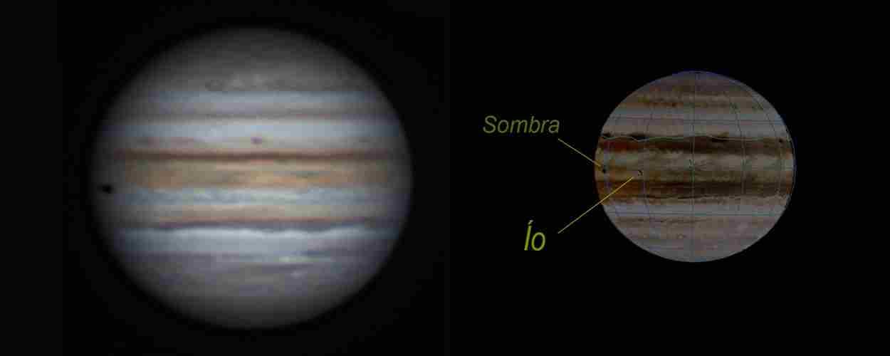 Júpiter, tránsito de Ío y su sombra